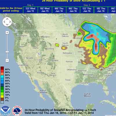 New NWS snowfall probability tool