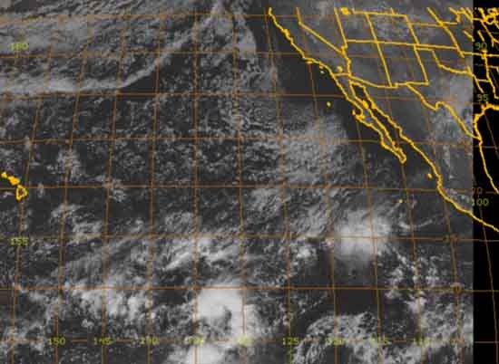 8 KM visible satellite view of Southwestern United States centered on the Sierra Nevada.