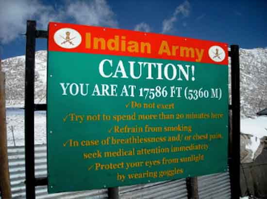Himalayan Altitude Sickness Warning - Indian Army, Wiki by Sistak