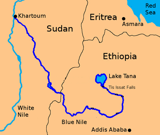 Map of the Blue Nile, Lourdes Cardenal, Wiki.