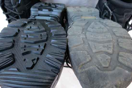 The sole of a backpacker is always at their feet.