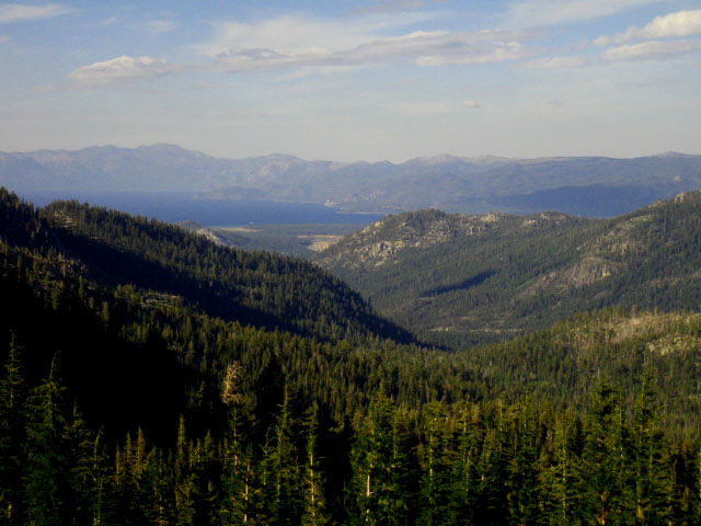 View of South Lake Tahoe Basin from Meiss Country Roadless Area.