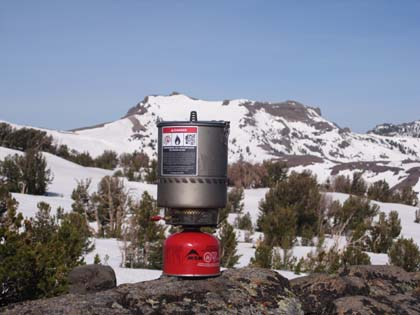 MSR Reactor in Spring Snow field test, Round Top Lake