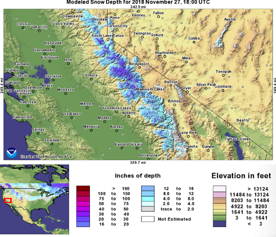 WEATHER for High Sierra Backpackers: REPORTS, FORECASTS ... on
