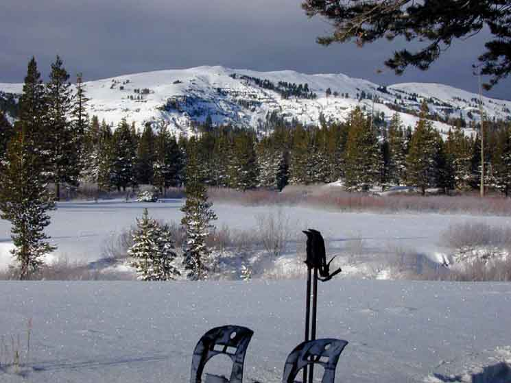 Delightful view of Meiss Meadow from my snow camp.