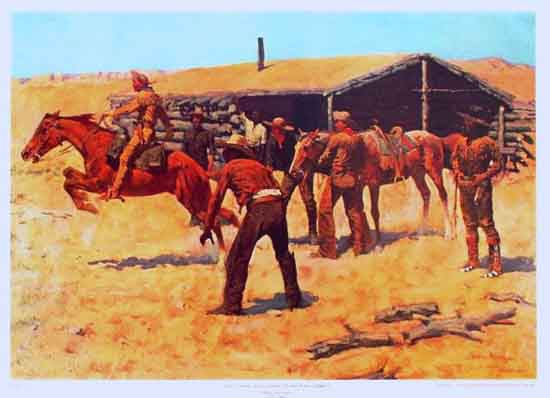 "Frederick Remington ""Coming and going of the Pony Express,"" 1900."