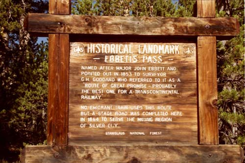 Ebbetts Pass Historical Landmark