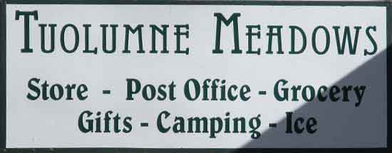 Tuolumne Meadows Store, Post Office, and Grill all reside under the big top tent.