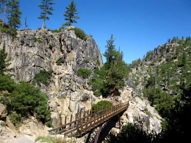 Upper bridge following Tahoe to Yosemite Trail South up Summit Creek to Relief Reservoir, Emigrant Wilderness.