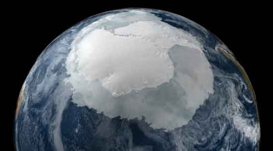 Antarctica from Space, September 21, 2005, NASA Scientific Visulation Studio.