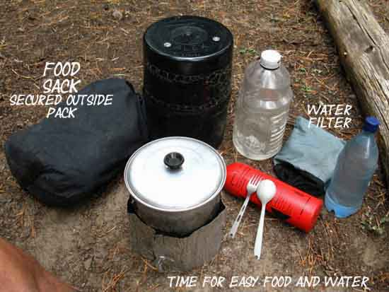 Food and water setup for unresupplied TYT in '09.