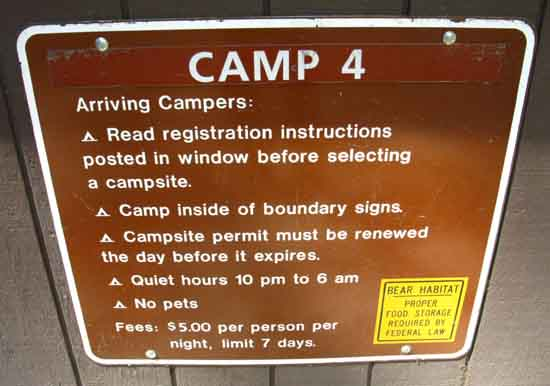 The Rules of Camp Four, Yosmeite Valley, 2012.