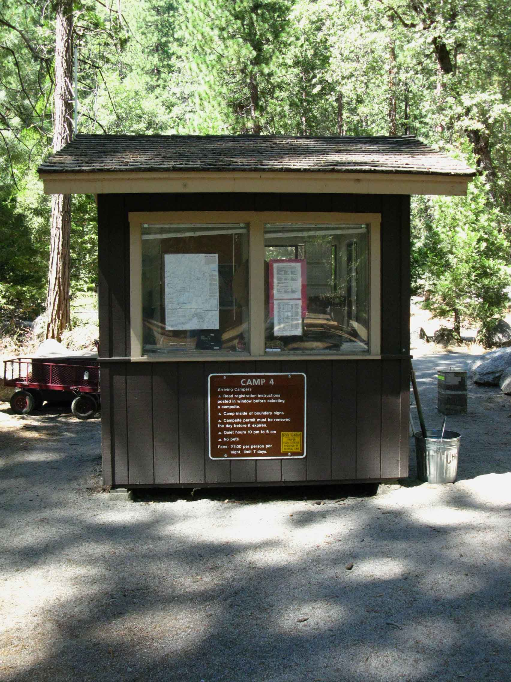 The Ranger Booth at Camp 4 in Yosemite Valley, 2012.