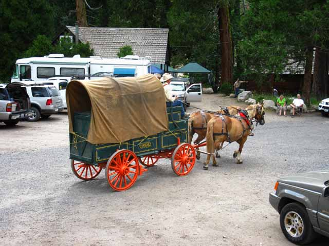 Chuck Wagon rolling by with two horse-power at Kennedy Meadows Pack Station and Resort, 2010.