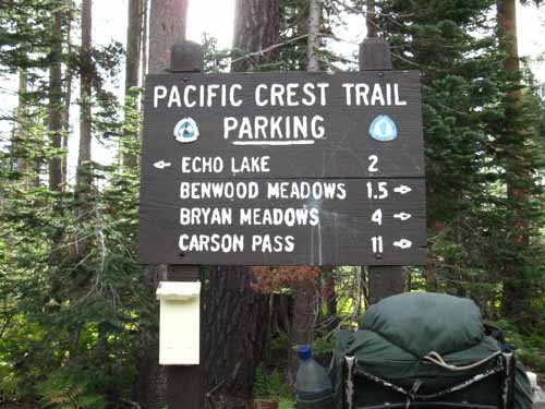 Echo Summit Trail Head.
