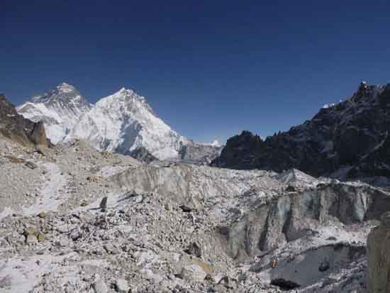 Wasting of Changri Nup Glacier in Himalayas, Joshua Maurer.