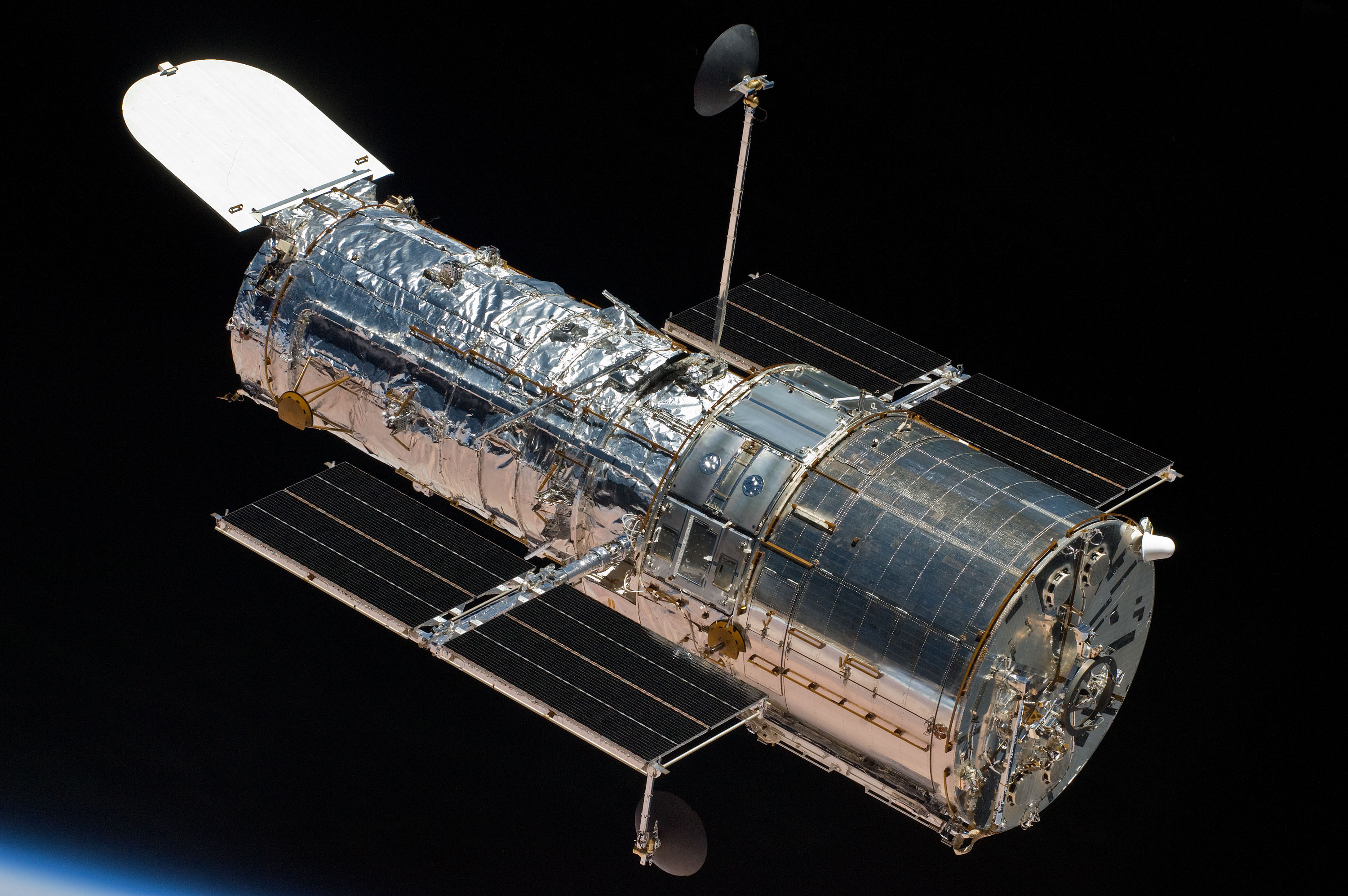 Fine image of Hubble in Space, NASA.