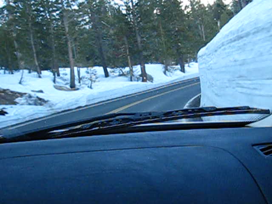 Through the Snowy High Sierra  Driving to Sonora Pass, Hwy 108, June 2010