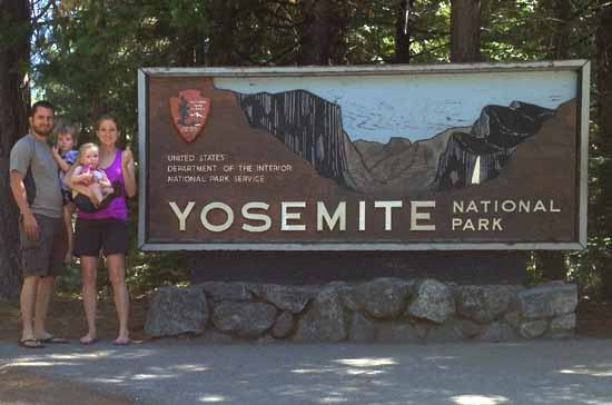 John, Anne, and the two kids at Yosemite National Park, Summer 2013.