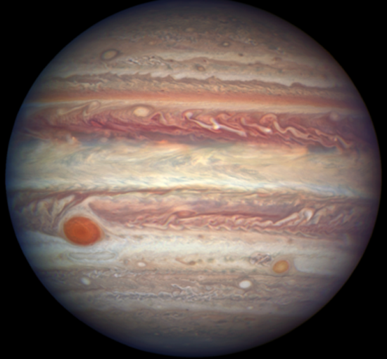 Jupiter from Space, Credit to Hubble, NASA, ESA, and A. Simon (GSFC)