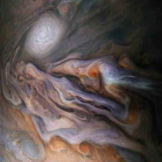 Jupiter from JUNO spacecraft, Credit to NASA/JPL-Caltech/SwRI/MSSS/Gerald Eichstädt/Seán Doran