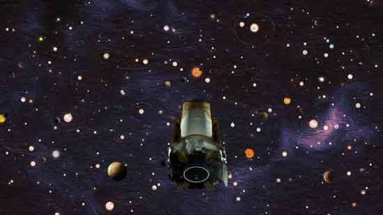 Kepler Space Telescope Oil Painting, by NASA/Ames Research Center/W. Stenzel/D. Rutter.