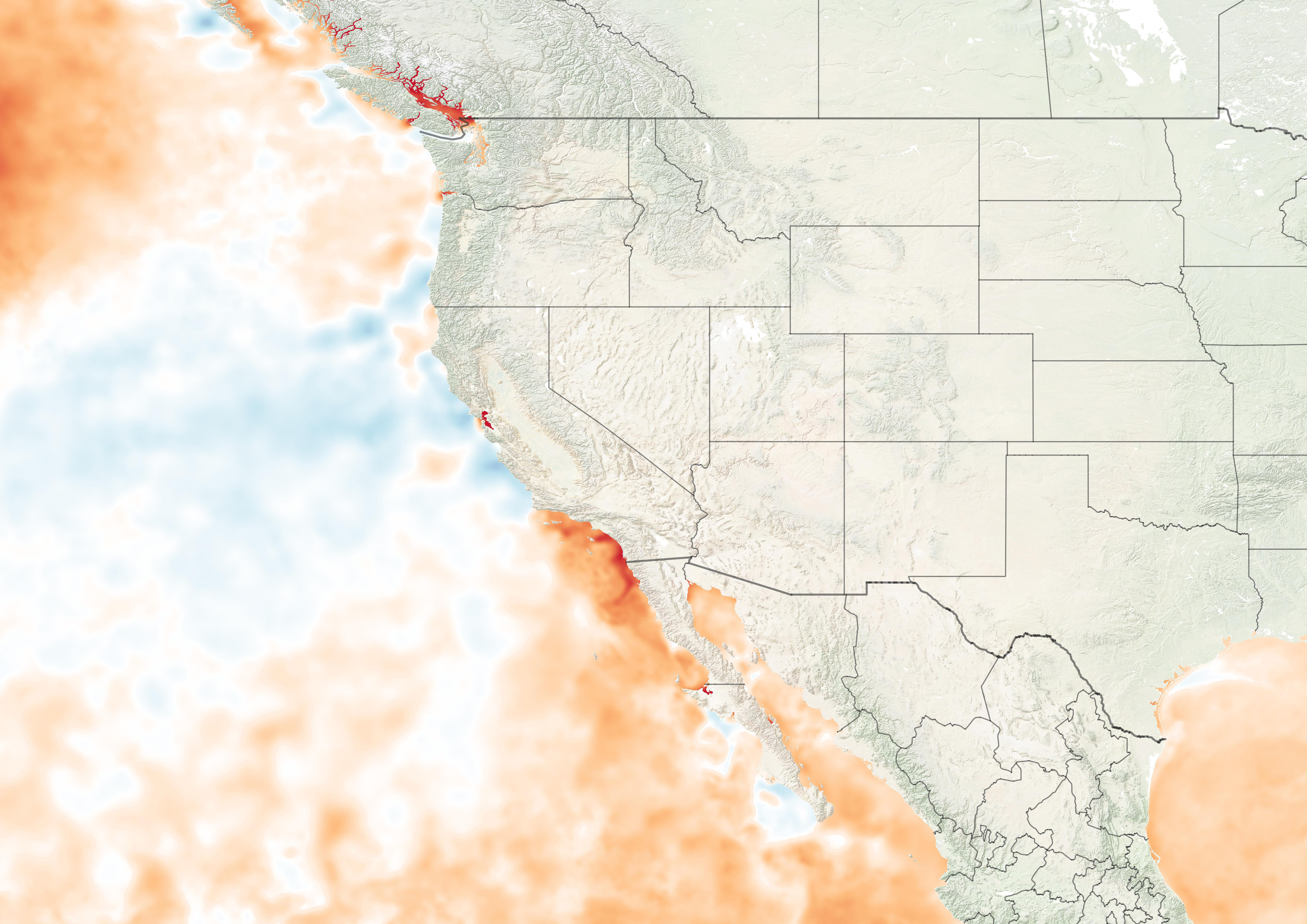 Record Setting Sea Surface Temperatures (SST) August 2, 2018