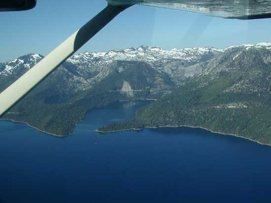 Emerald Bay, Lake Tahoe, USA, Credit to GSA & R.A. Schweickert et al.