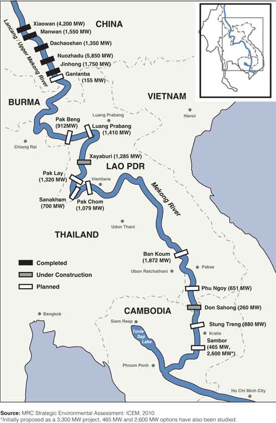 China holds the keys to the waters of Burma, Laos, Thailand, Cambodia, and Vietnam. Graphic by International Rivers.
