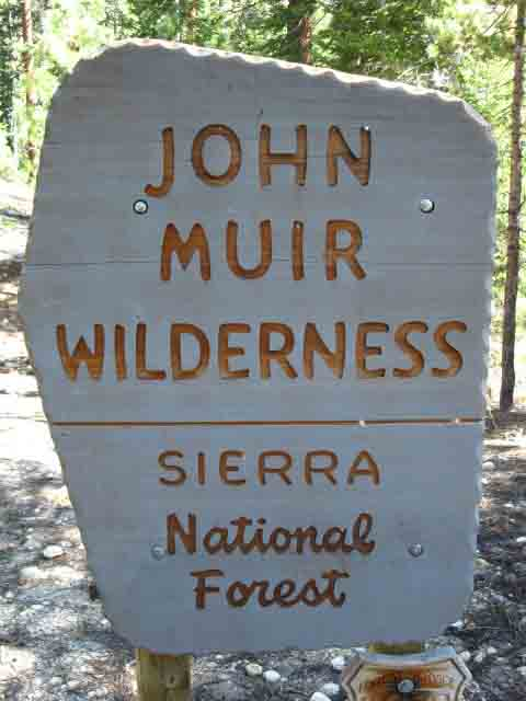 John Muir Wilderness Boundary North of Vermilion to Goodale Pass.