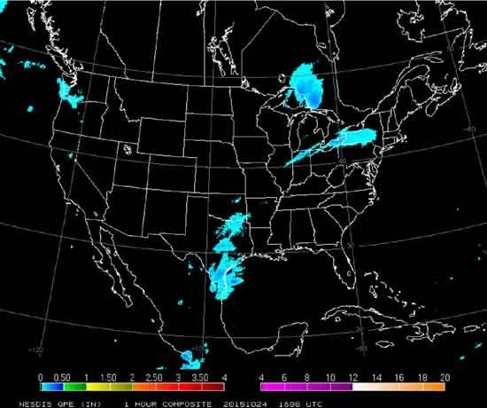NESDIS-1 satellite radar estimates by hour.