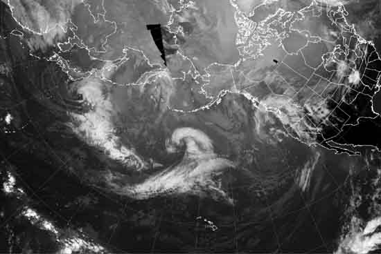 North Pacific Ocean IR Satellite Animation