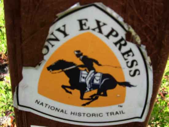 The Pony Express Trail runs East and West through Echo Summit.