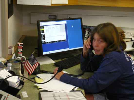 Expert dispatcher begins drawing resources together for Alpine County SAR responce.