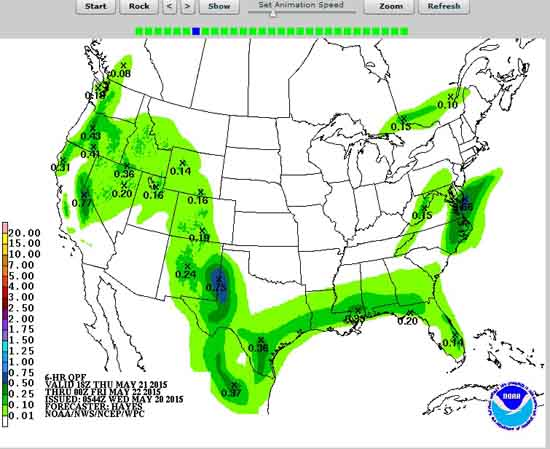 Seven Day Precipitation Forecast Animation