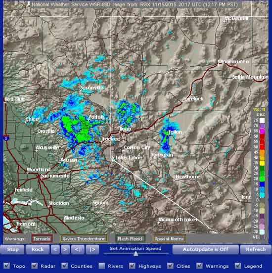 North and Central Sierra Nevada Radar for Backpackers.