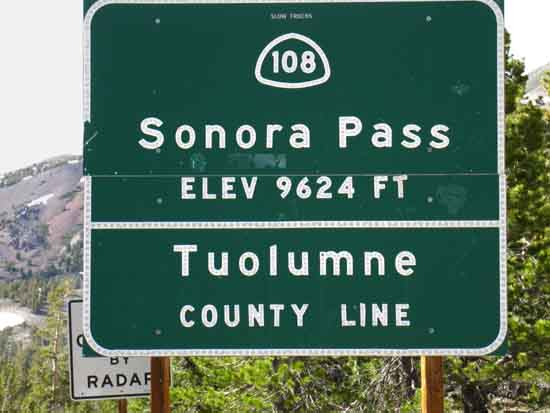 From the Sonora Pass, the Pacific Crest Trail, or other Long-Distance Backpackers hitch hike 7 miles to the West.