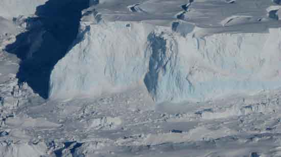 Thwaites Glacier's Edge, credit Georgia Institute of Technology, NASA/James Yungel.