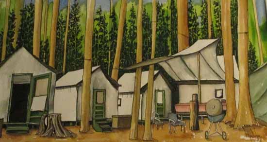 Tuolumne Meadows Employee Housing, MarcSkor Watercolor.