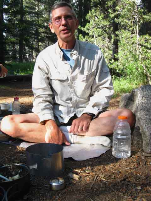Ultralight Earl at camping at Glen Aulin with his family and ultralight backpacking gear.