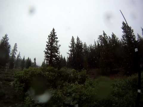 Snow falls in July on the Sierra Crest.