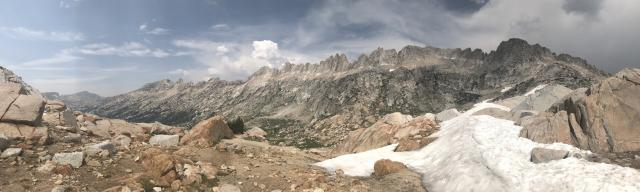 Sawtooth Crestline from Burro Pass
